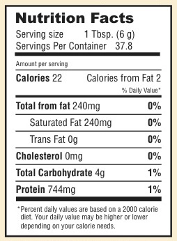 Nutrition Facts for Cacao Bliss